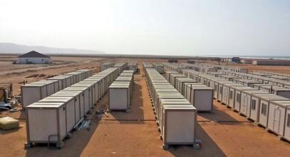 Abbiamo creato siti di costruzione per i lavoratori di miniera d'oro in Guinea