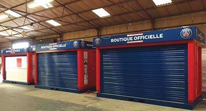Karmod ha prodotto i chioschi del negozio PSG