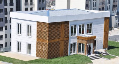 Lussuoso ufficio di vendita prefabbricato per il progetto Bosphorus City