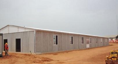 iIl sito di lavoro miniera prefabbricata nel Senegal